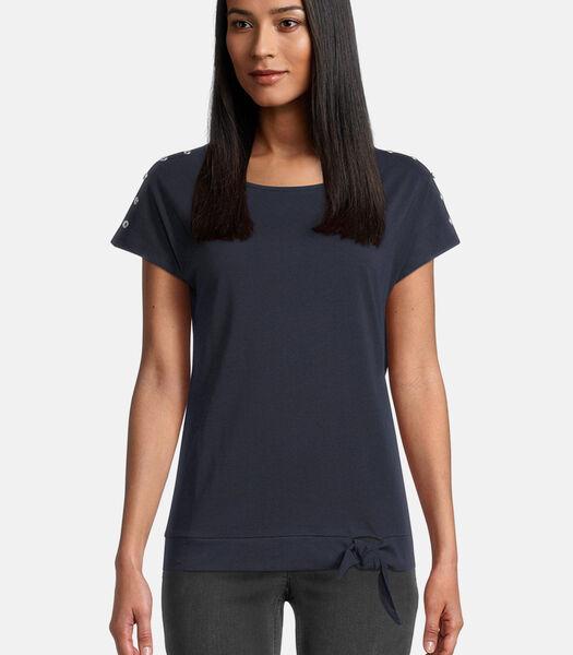 Basic shirt met geknoopt effect