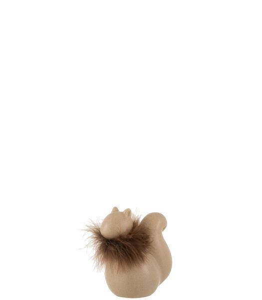 Eekhoorn Keramiek Bruin Small