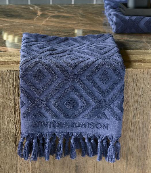 Serviette de bain RM Chic bleu foncé 100x50