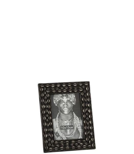 Cadre Photo Coquillage 10X15 Resine Marron Small