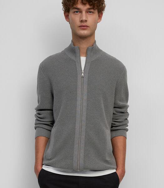 Vest met rits van organic cotton