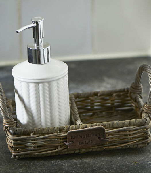 Porte-savon en rotin rustique