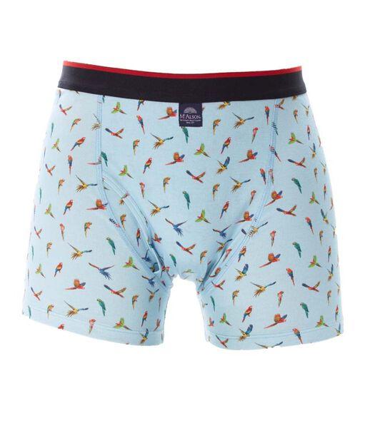 Mannen Jersey Boxer- papegaai