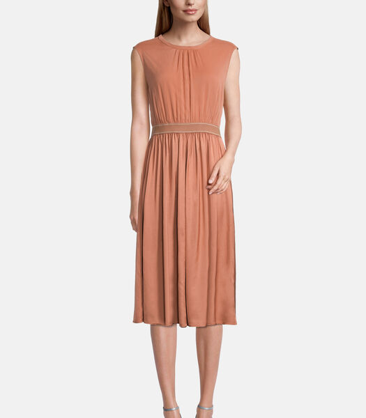 Chiffon jurk met elastische band