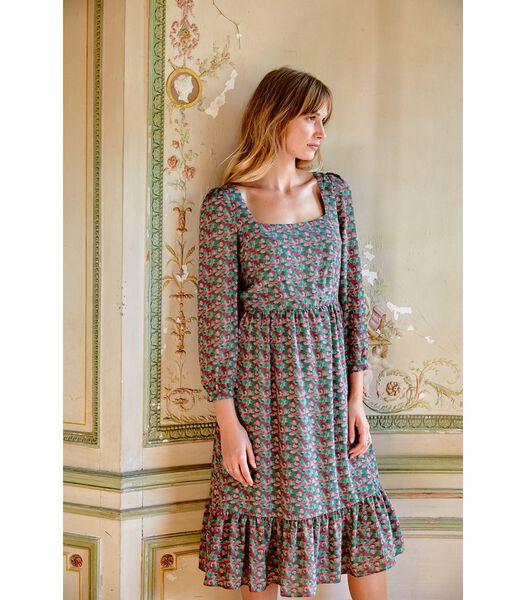 Zijden jurk Boheemse BUBBLE GUM