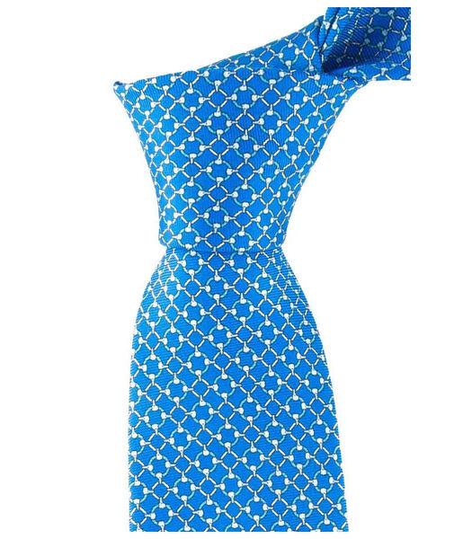 Cravate lumineux à micro-motifs selliers en soie