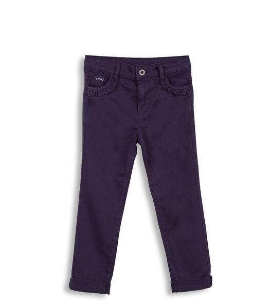 Slim jeans met ruches