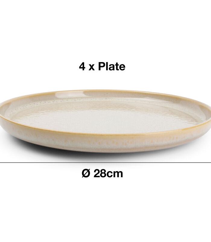 Servies 12-delig beige Tabo image number 2