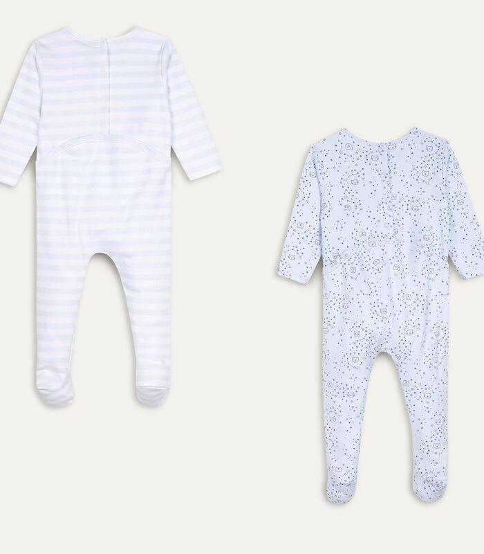 Set met 2 pyjama's met voetjes image number 1