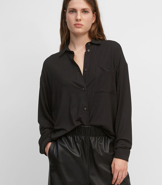 Jersey blouse met gerimpeld achterpand
