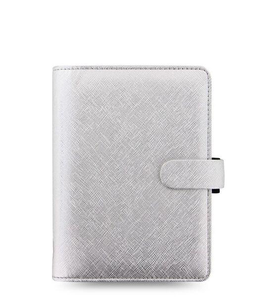 Organiser Personal Saffiano Metallic Silver