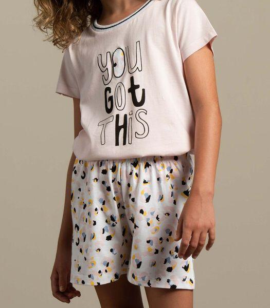 Pyjama pantalon court wild jungle m