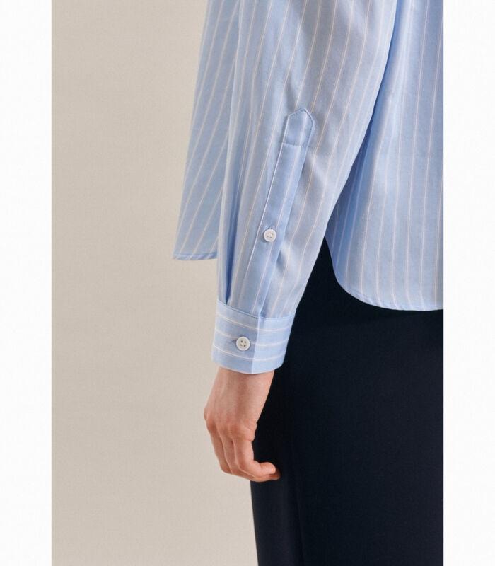 Shirtblouse Strepen Lange mouwen Kraag image number 3