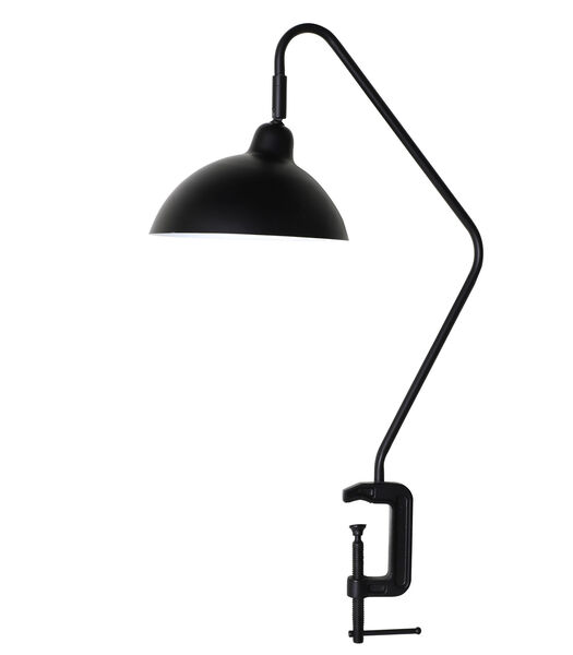 Bureaulamp met klem Orion - Zwart - 36x22x69 cm
