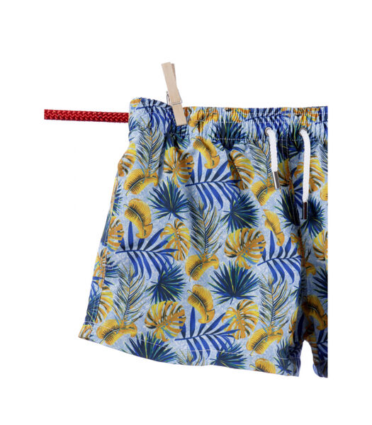 Zwemshort polyester  bloemen Ibiza