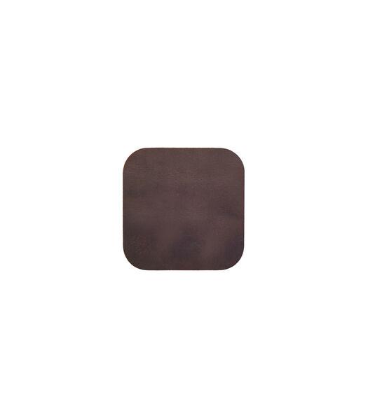 ELLIS sous-verre carré brun foncé