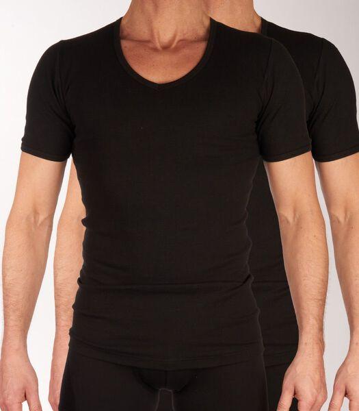 T-shirt v-hals 2 pack sensitive h-m