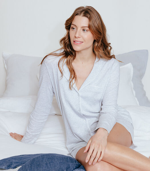 Pyjamajasje van katoen jersey, CAMILLE
