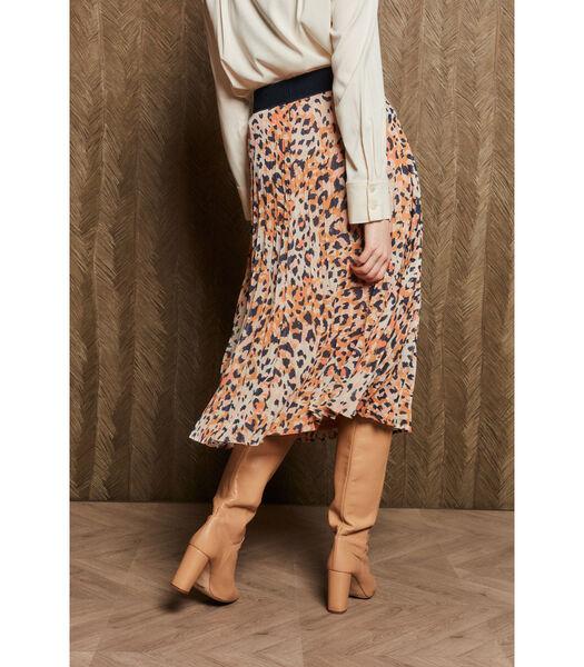 Lange rok met hippe print en gouden details