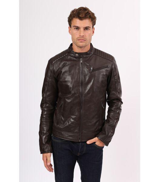 MICHAEL jas in schapenleer biker stijl