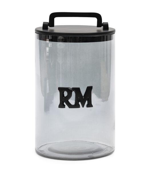 Bocal de rangement RM en verre fumé L