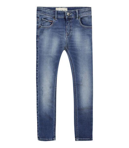 Vervaagde stretch slim jeans