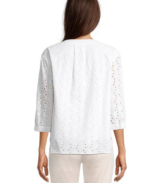 Blouse in shirtstijl met 3/4-mouw