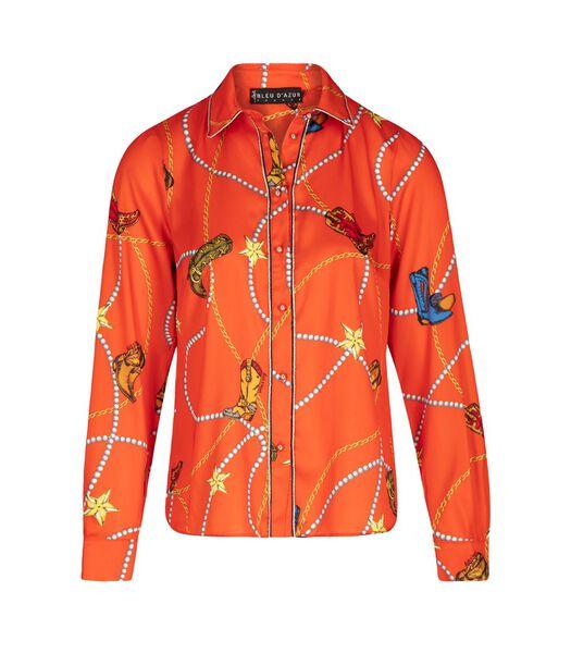 MIGUEL overhemd met cowboyprint