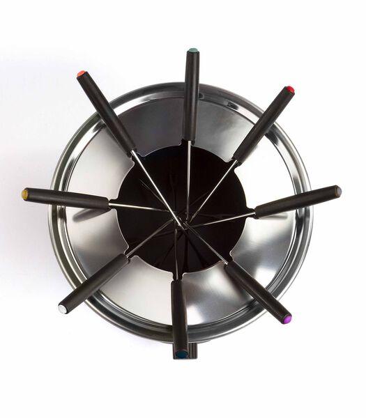 Elektrische fondueset roestvrij staal