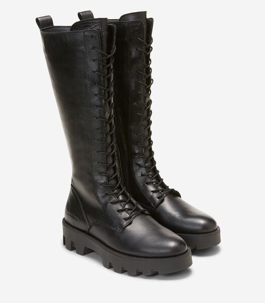Laarzen met lange schacht met opvallend profiel