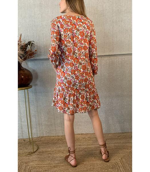 Leuk losvallend jurkje met felle zomerkleuren