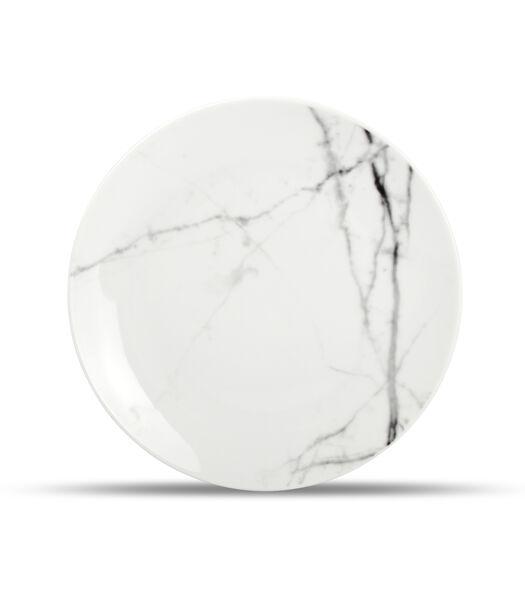 Assiette plate 19cm marble Stone - set/4