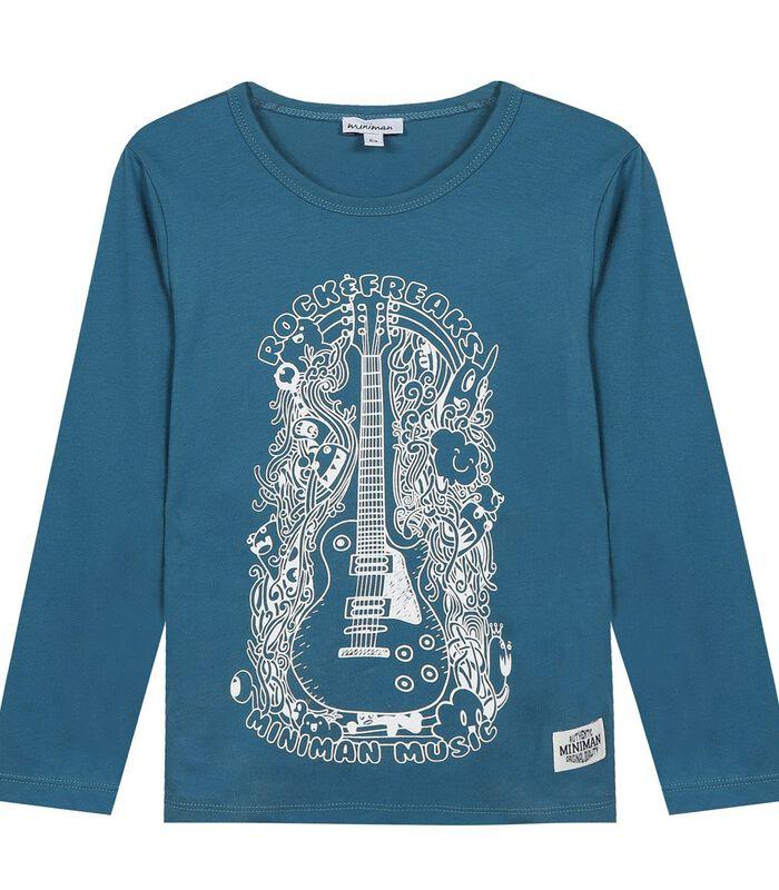 Geprinte T-shirt met lange mouwen image number 0