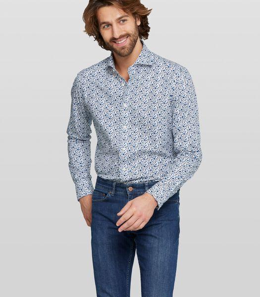 Oxford overhemd met bloemenprint