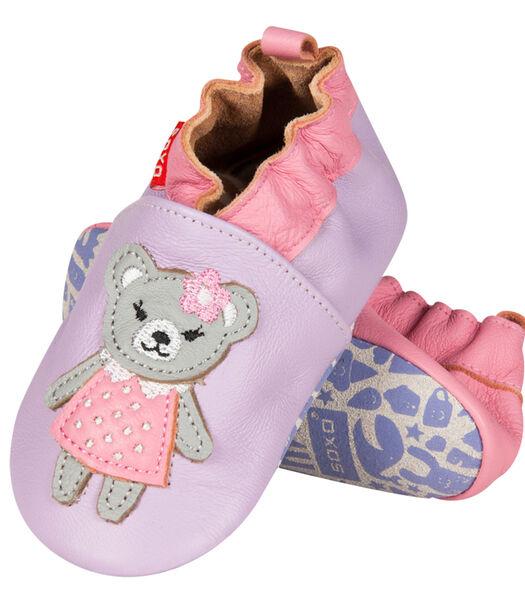 Zacht leren babyschoentjes