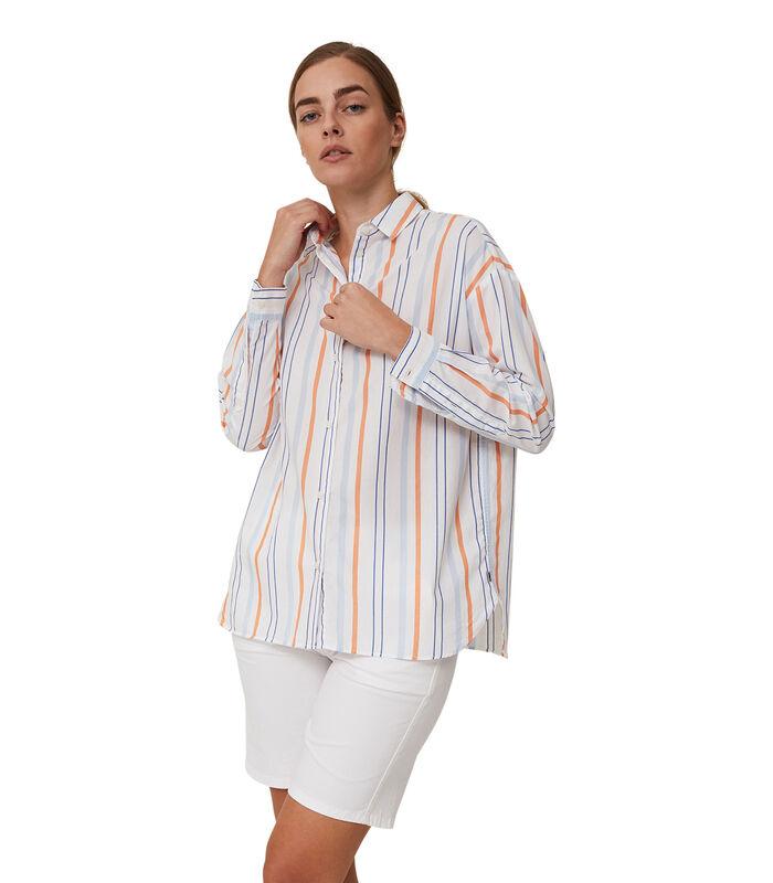 Overhemd Edith gestreept popeline image number 0