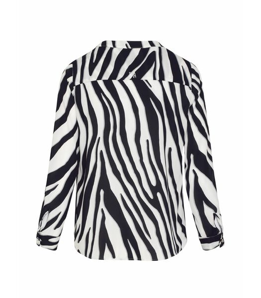 Zebra print voile blouse DARCY
