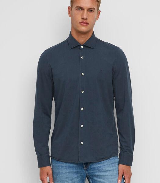 Jersey overhemd met lange mouwen van organic cotton