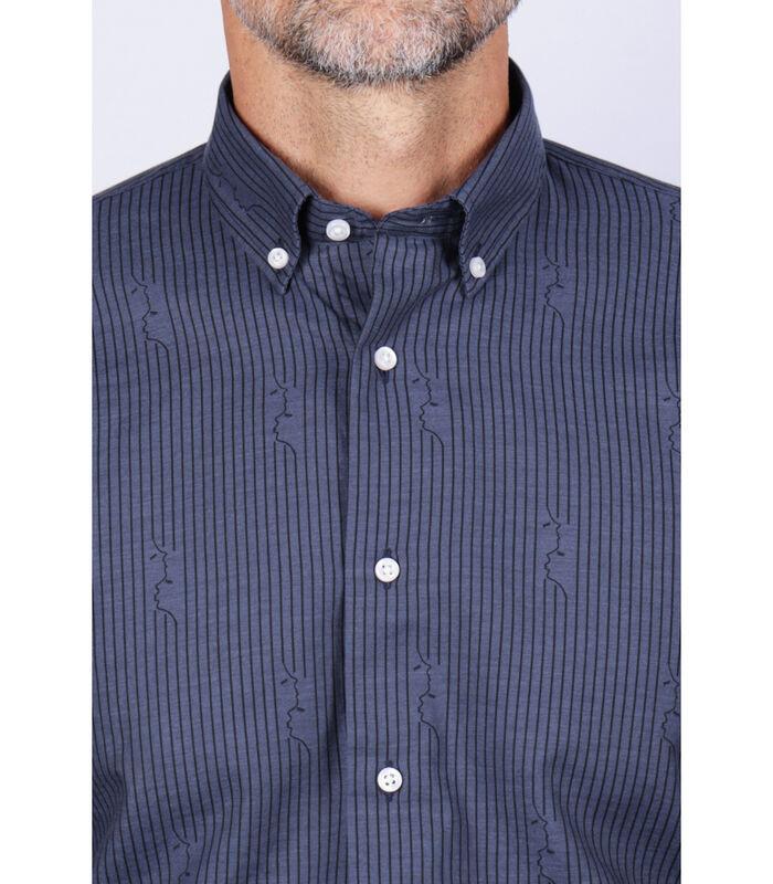 Overhemd katoen amerikaanse kraag print image number 2