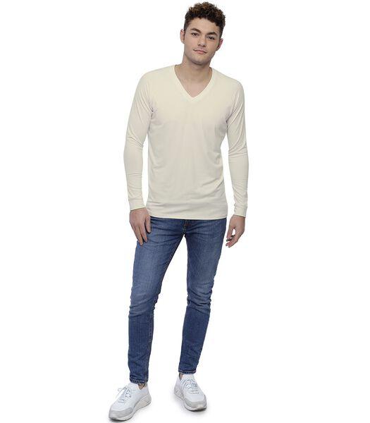 T-shirt col V manches longues raglan DAN