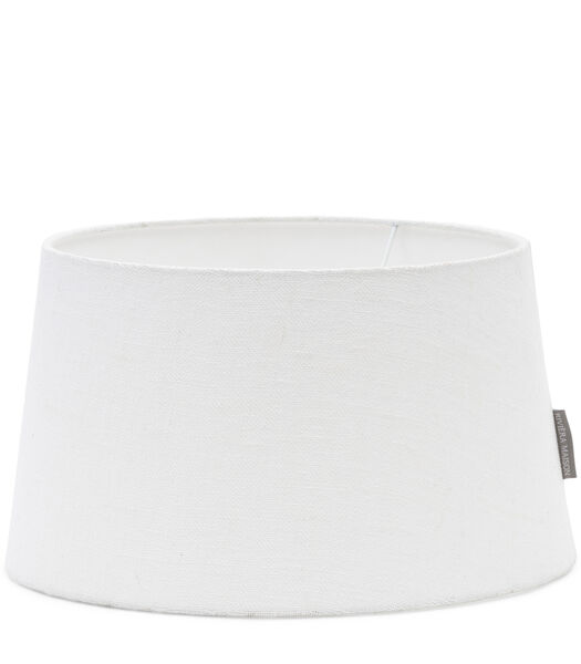 Abat-jour en lin blanc 25x30