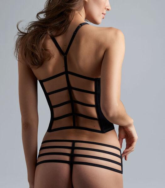 leading strings plunge balcony corset