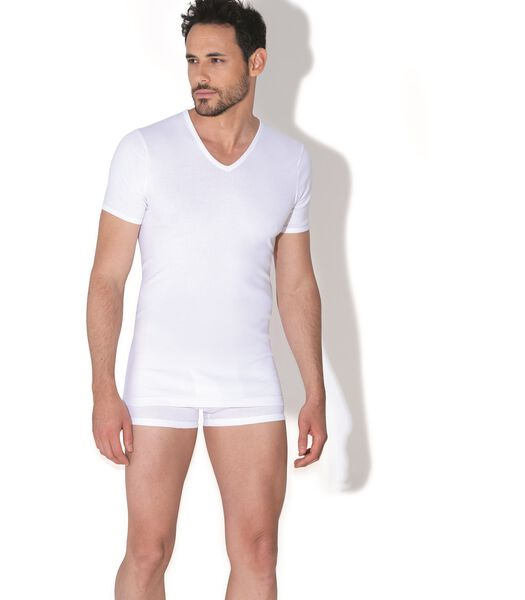 T-Shirt Pur Coton Hypoallergenique Shirt Col V