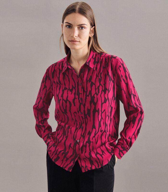 Shirtblouse Print Lange mouwen Kraag image number 0
