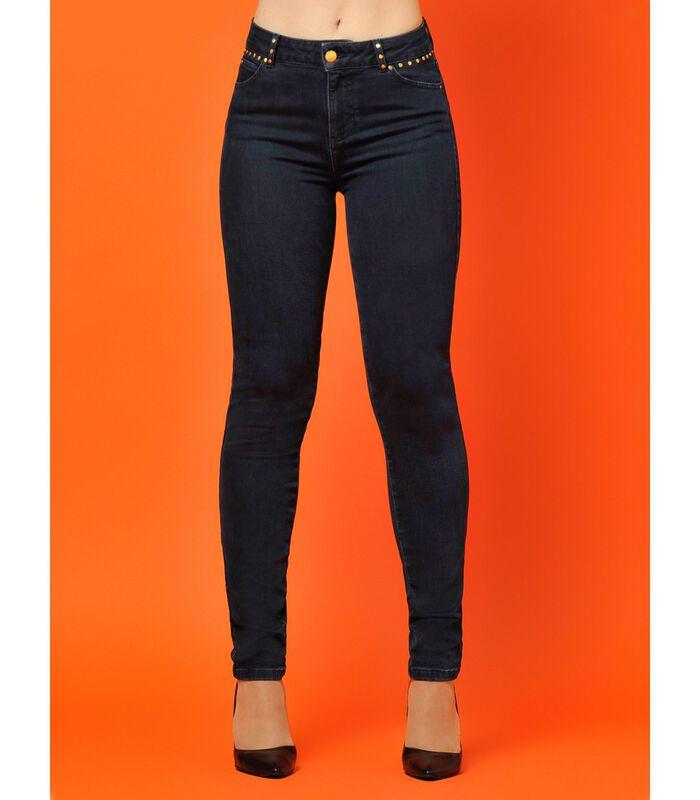 Ruwe jeans met zakken met studs ZOOM image number 3