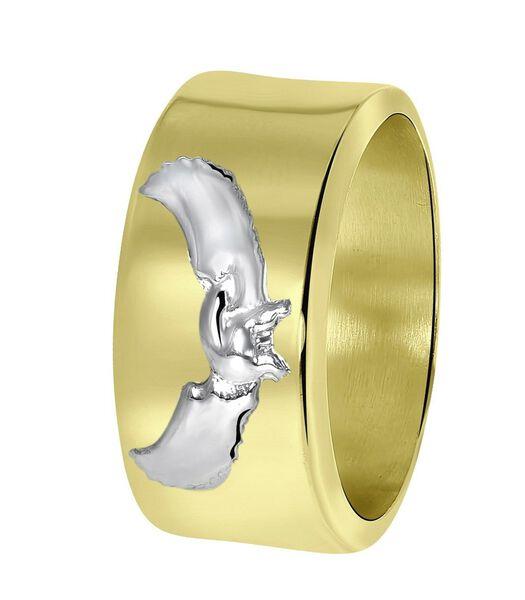 14 Karaat geelgouden heren ring met adelaar