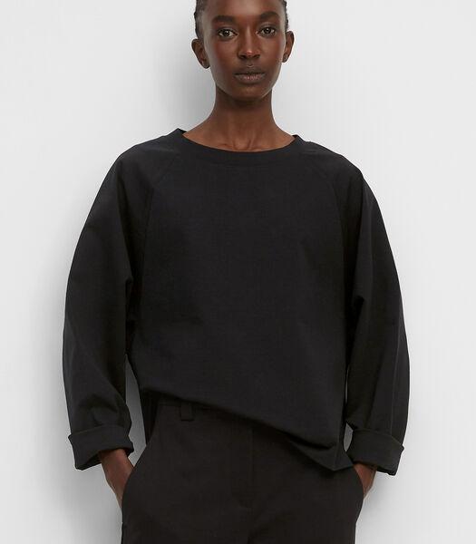 Sweatshirt van lichte interlock