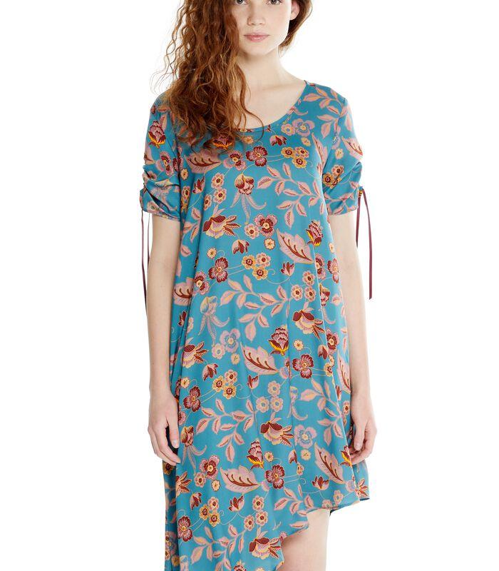 Asymmetrische jurk ROSAFA met bloemenprint image number 1