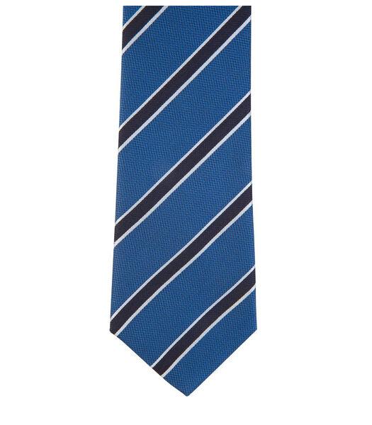 Cravate club à rayures en soie