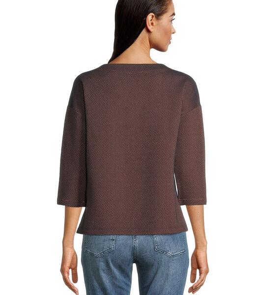 Casual sweatshirt met structuur